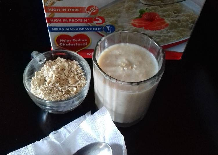 15 Minute Steps to Make Diet Perfect Oats banana smoothie