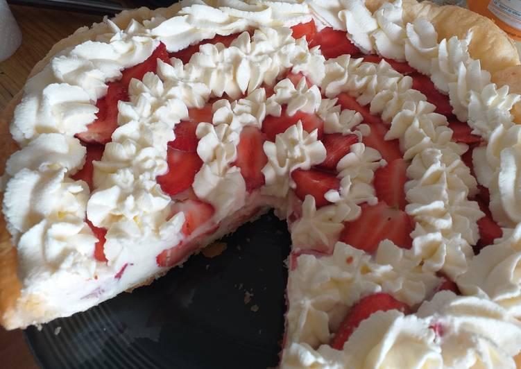 Tarte à la fraise mascarpone légère