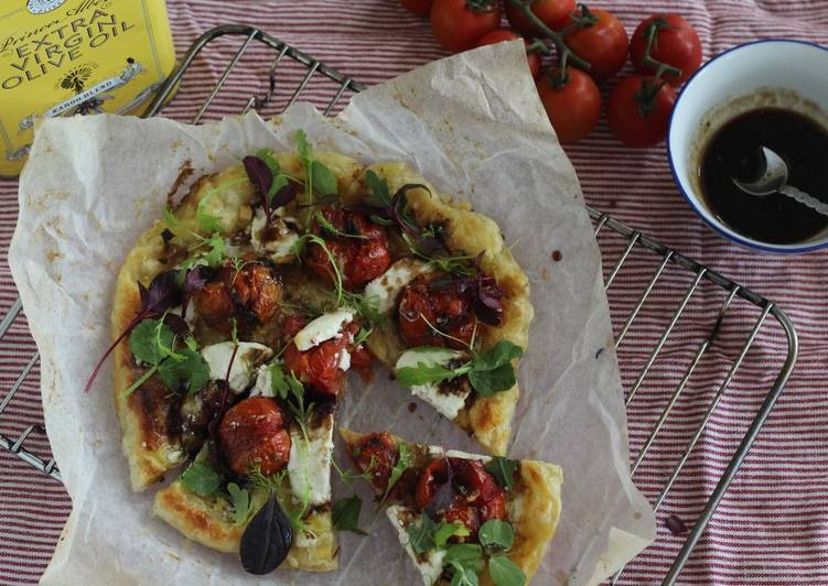 Simple Way to Make Perfect Balsamic roasted tomato and goat's cheese tart