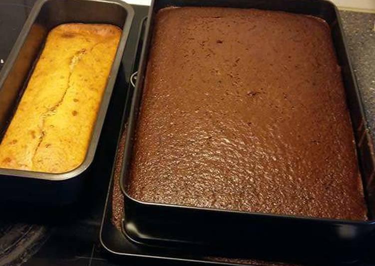 Chocolate and vanilla cake