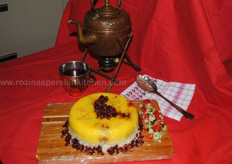 Easiest Way to Make Speedy Persian upside down rice (Tahchin-e Morgh)
