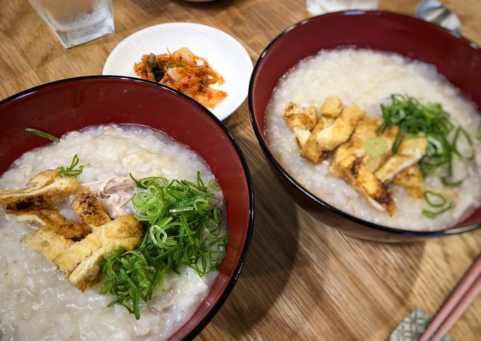 Chinese Chicken Congee for Breakfast