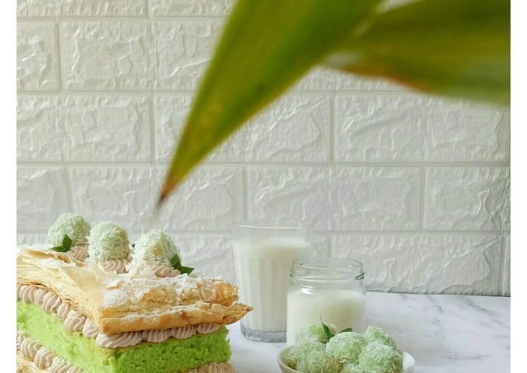 Klepon snow cake