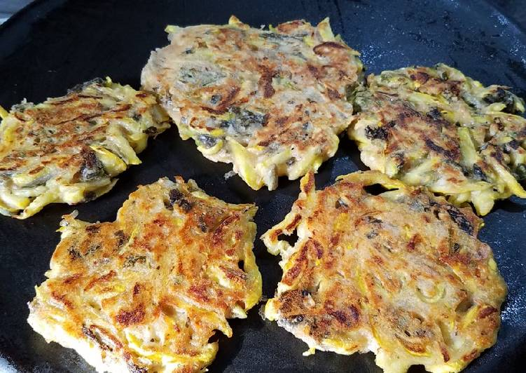 Recipe: Appetizing Yellow Squash Kamut sourdough fritters
