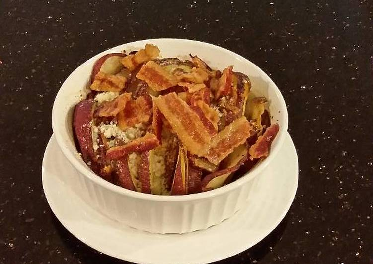 Potato and Onion Crisp Topped Slices