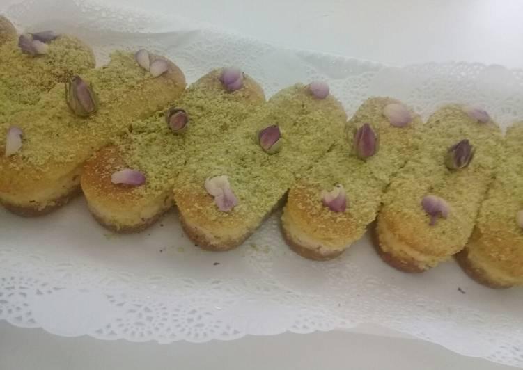Pistacio and Basbusa Cheese Cake