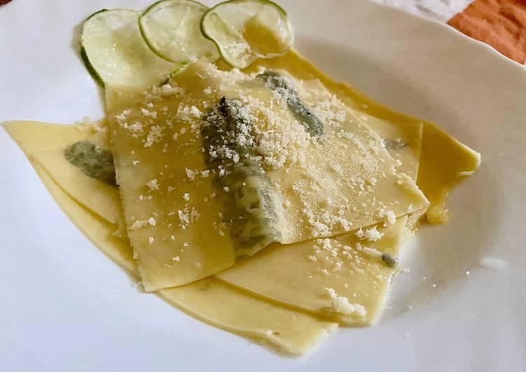 Ricetta Raviolo aperto Mojito style