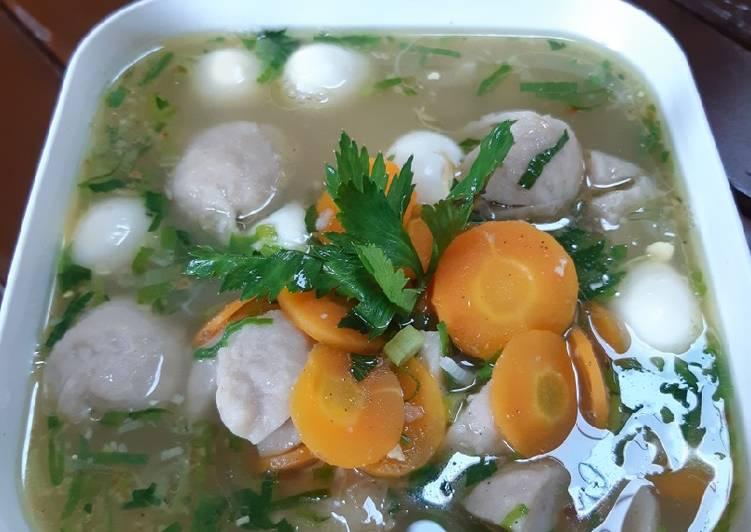Cara Gampang Membuat Sup Bakso Mix, Lezat Sekali