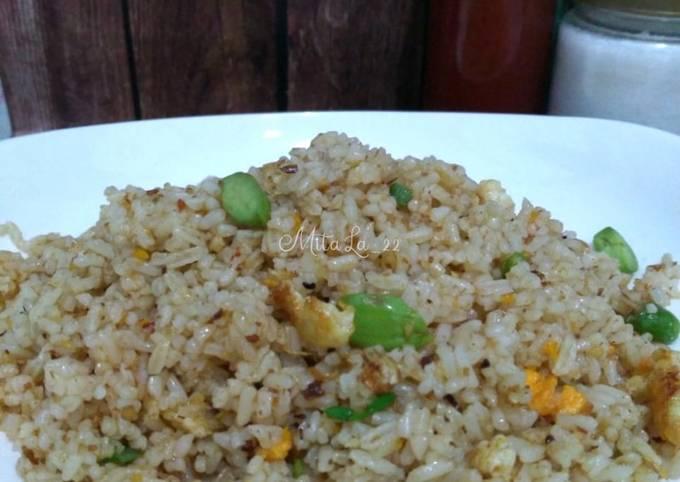 nasi goreng pete sambal roa - resepenakbgt.com