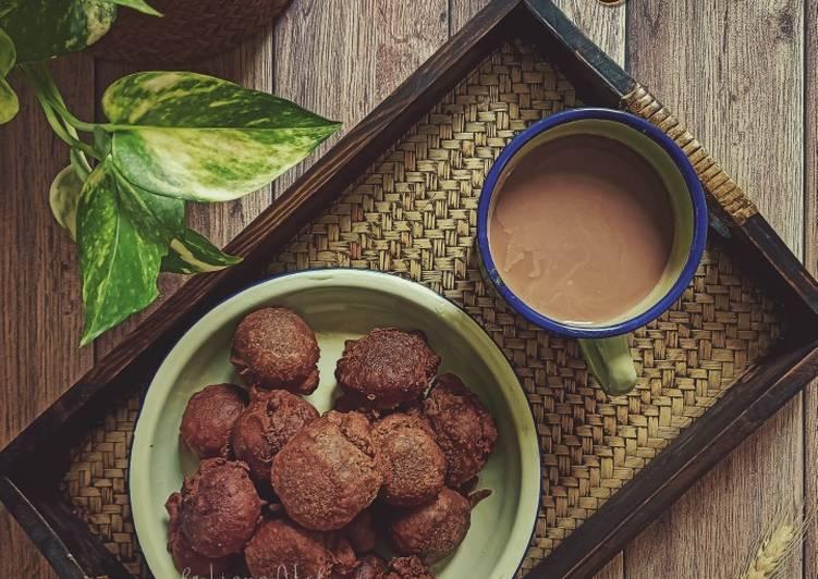 Cucur manis coklat - resepipouler.com