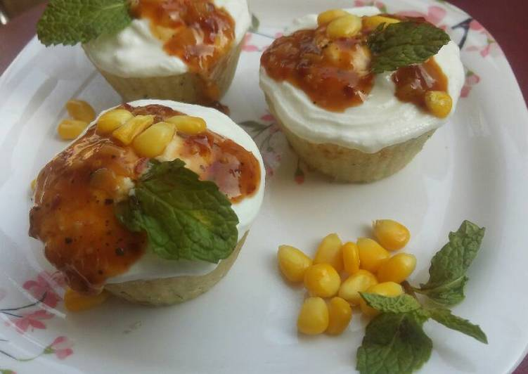 Easiest Way to Make Delicious Idli muffins with Chilli corn sauce
