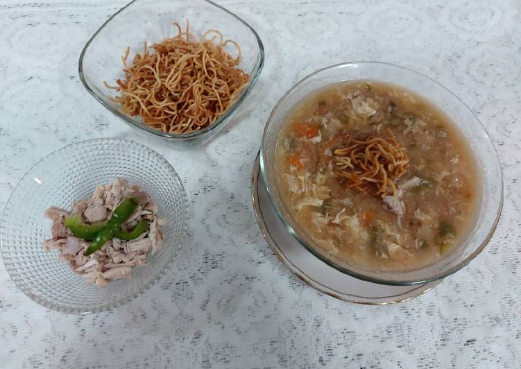 Recipe of Any-night-of-the-week Chicken and veg hot and sour soup