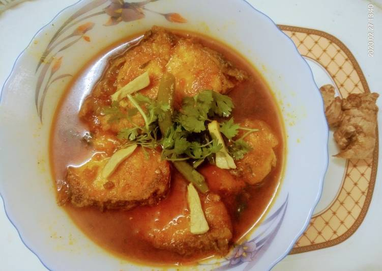 Simple Way to Prepare Quick GINGER RAHU FISH CURRY RECIPE
