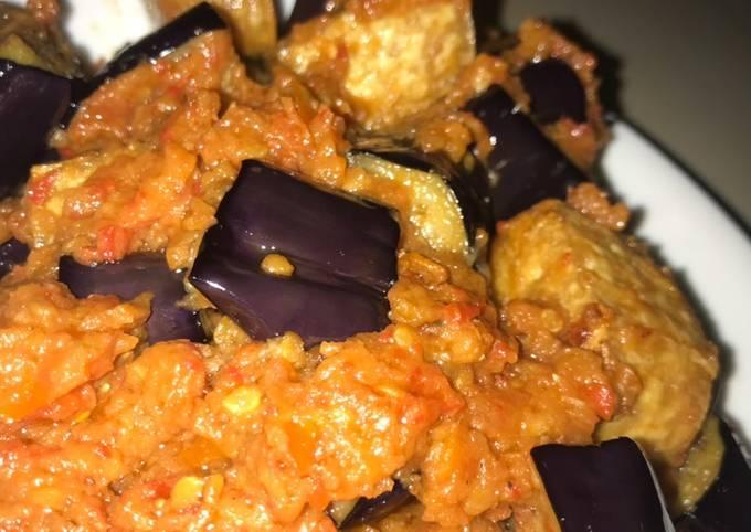 Tofu Eggplant with chili and tomato sauce (Terong Balado)