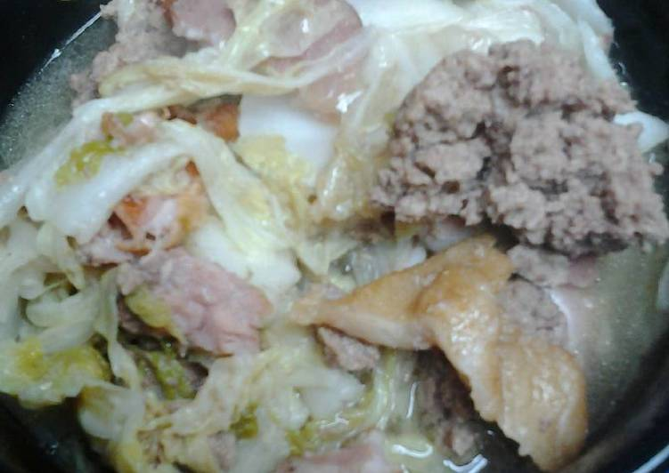 Chinese/nappa cabbage with beef and bacon, Heart Friendly Foods You Must Eat