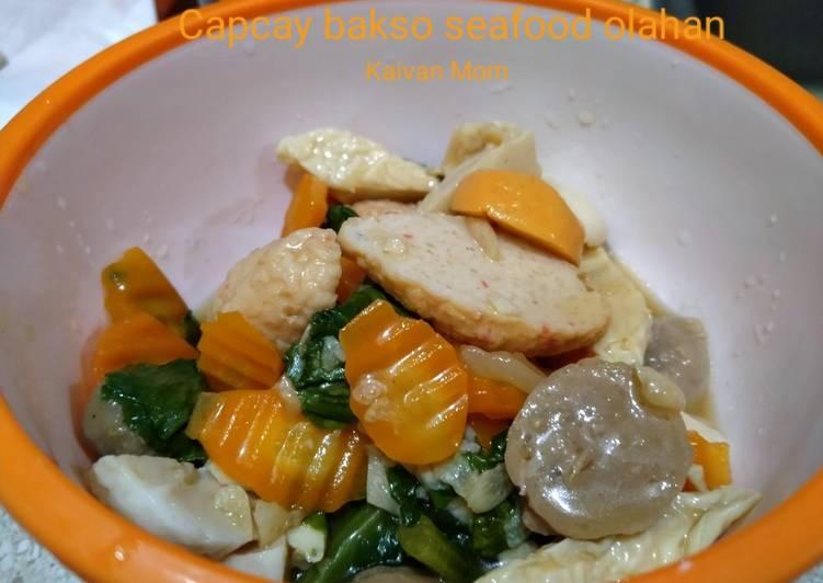 10. Capcay bakso seafood olahan