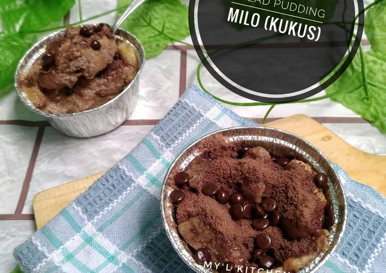 Bread Pudding Milo (Kukus)