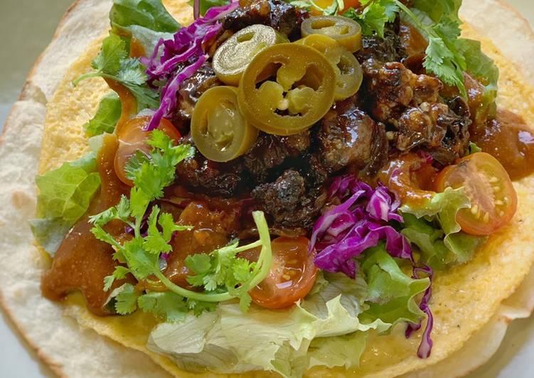 Taco Sate Kambing dengan saos kacang hoisin