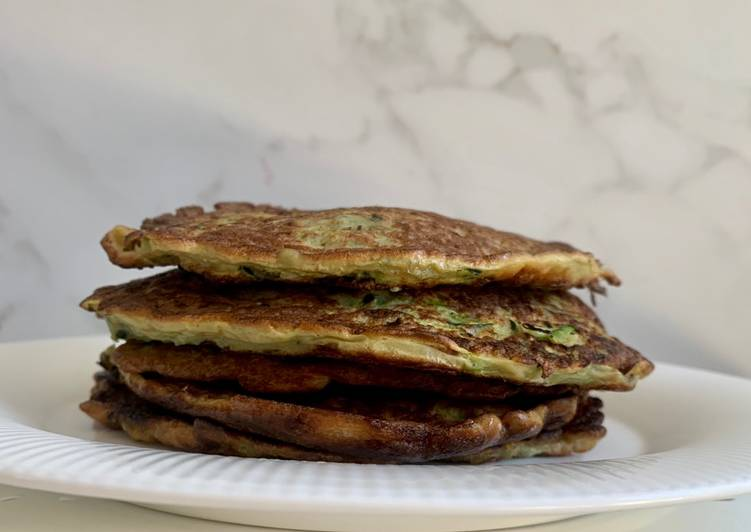 Recipe of Super Quick Homemade 10 minute Savory Zucchini Pancakes #vegetarian #paleo #low carb #grain-free #gluten-free