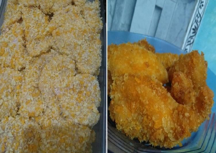 Bagaimana Membuat Chicken katsu (frozen food), Lezat