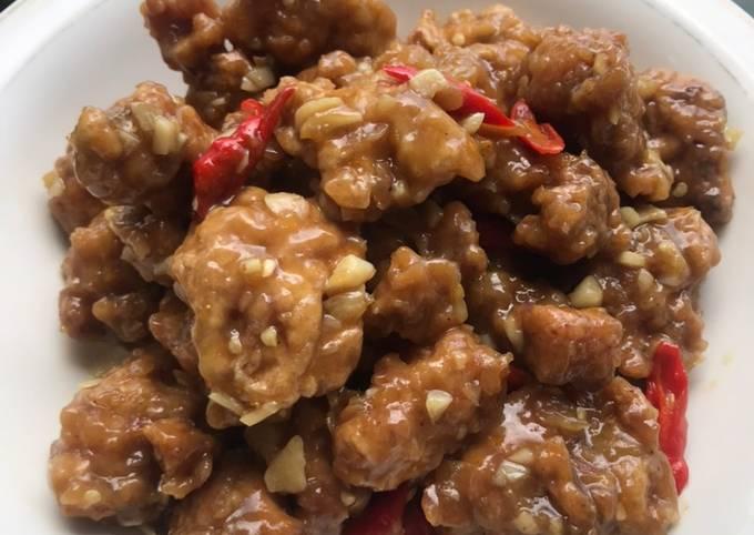 Bagaimana Menyiapkan Ayam Saus Jeruk (Orange Crispy Chicken), Bikin Ngiler