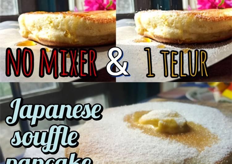 Resep Japanese pancake ekonomis no.mixer (takaran sendok) Bikin Jadi Laper