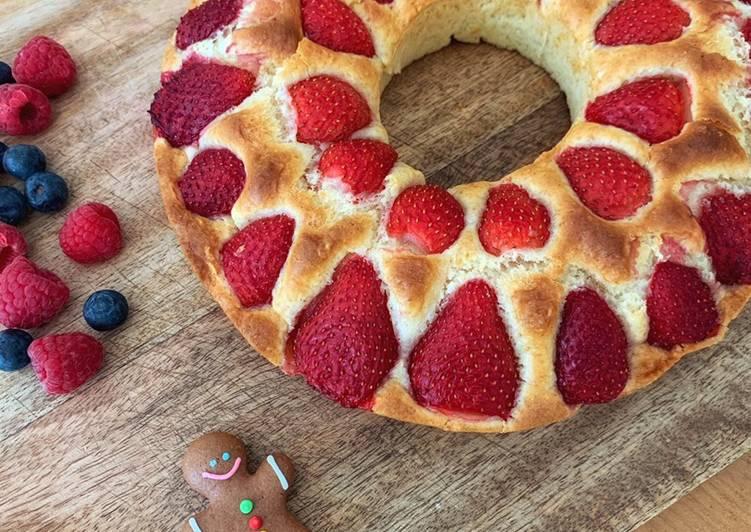 Gâteau yaourt aux fraises