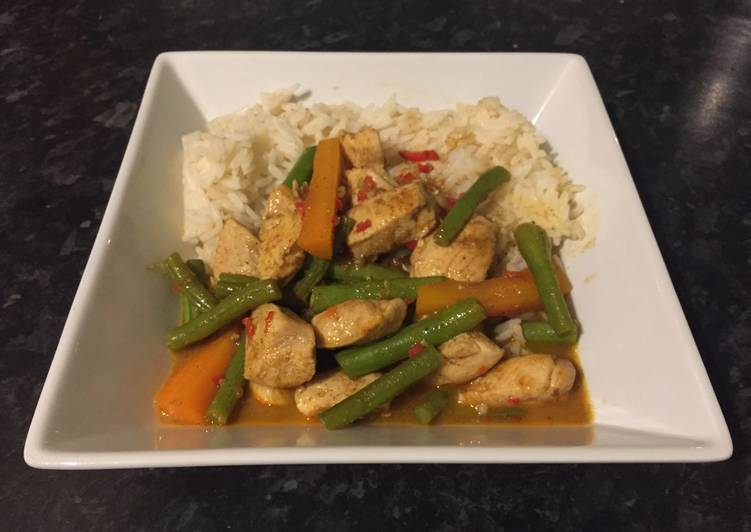 Recipe: Tasty Rendang Chicken Curry
