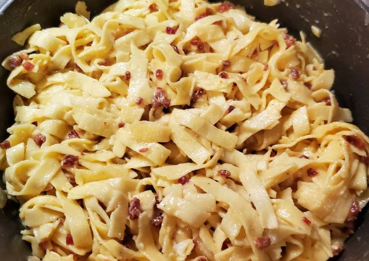 Recipe of Supreme Delicious Fettuccine Carbonara