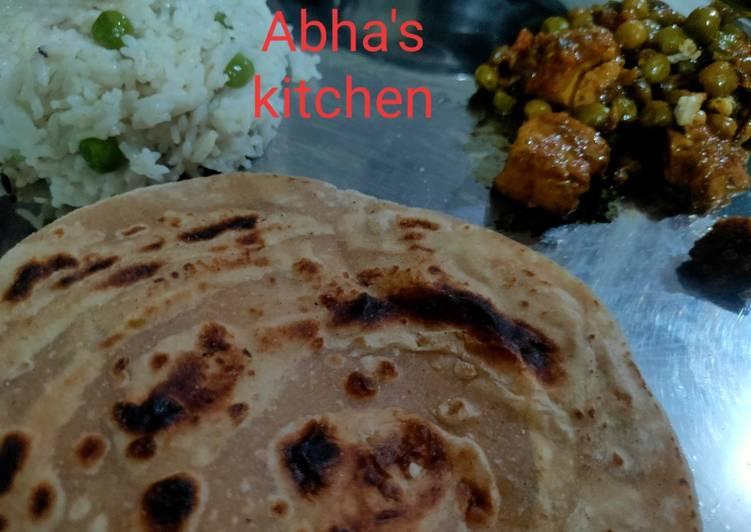 Hearty Comfort Dinner Easy Autumn Lachha paratha.