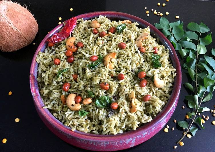 5 Minute Steps to Prepare Love Curry leaves Pulao