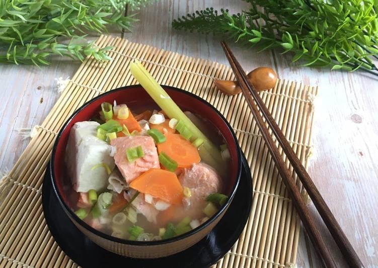 Bagaimana Membuat Sup Ikan Salmon Ala Sushi Tei Anti Gagal Resep Bunda