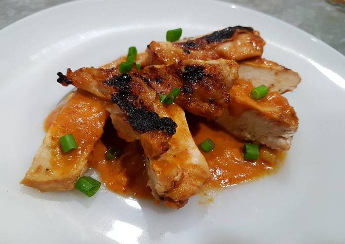 Grilled Chicken in Spicy Percik Sauce (Ayam Percik)