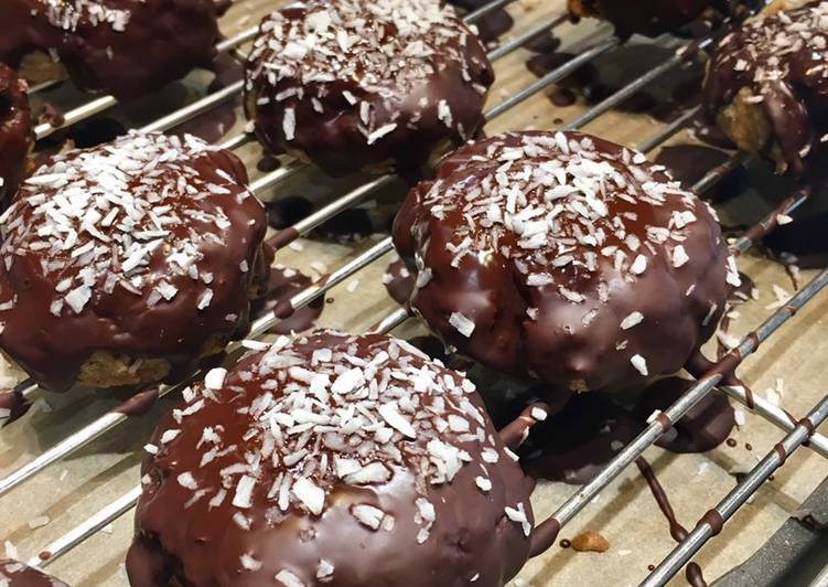 Recipe: Appetizing Chocolate Covered Oat & Coconut Cookies