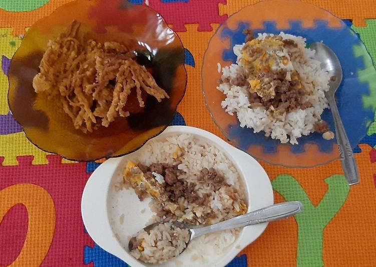 MPASI 12M+ Enoki Crispy, Ayam Telor Ceplok Masak Kecap
