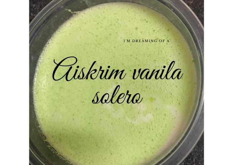 Aiskrim vanila solero homemade - resepipouler.com