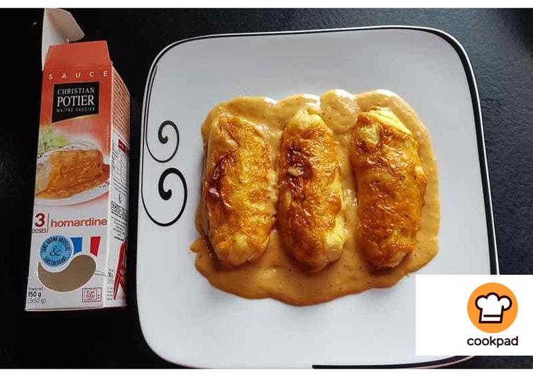Quenelles semoule sauce homardine