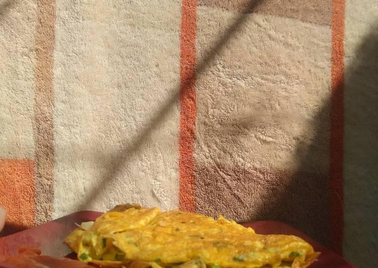 Resep Telur Dadar Keju🧀 Bikin Jadi Laper