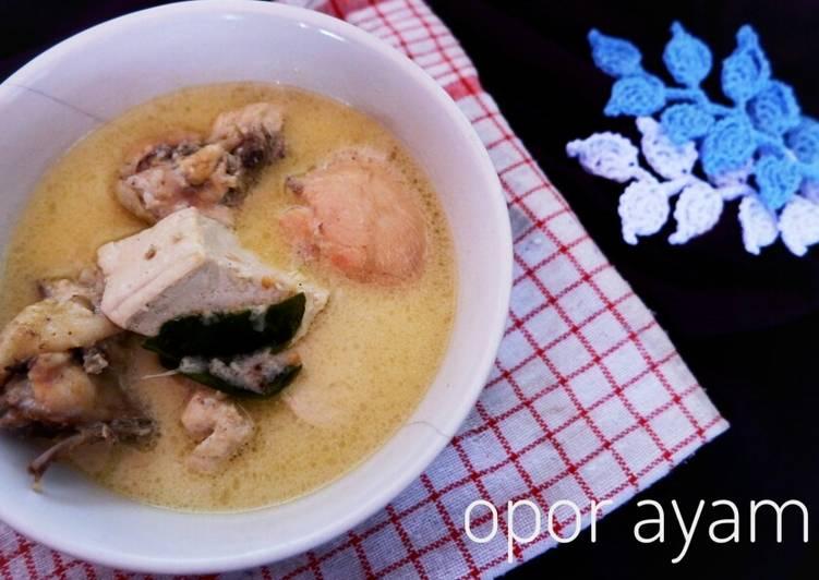 Opor ayam putih + tahu - cookandrecipe.com