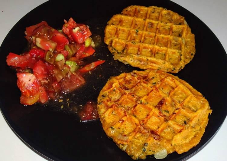 Gaufres de patate douce (vegan)