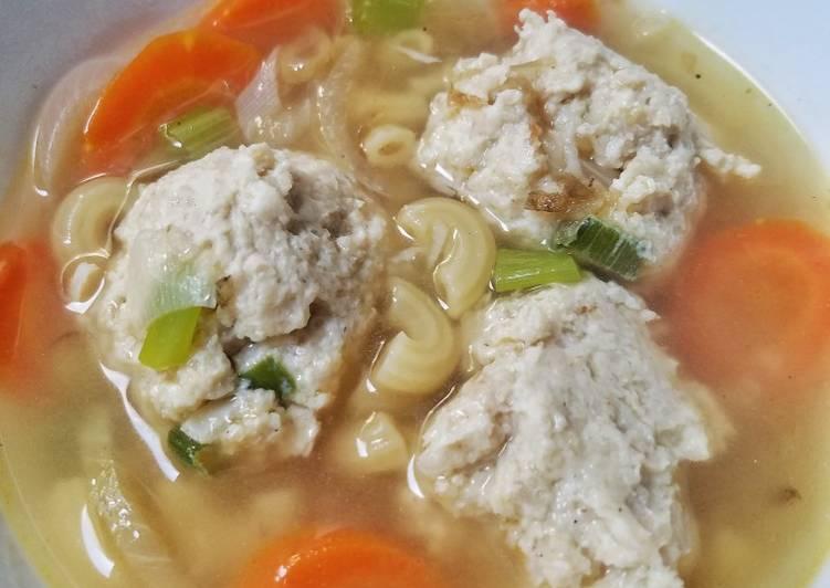 Bakso Ayam Jamur Sehat with Oats (tanpa tepung)