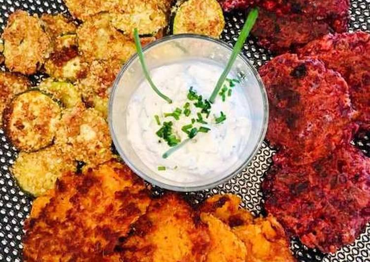 Râpés de Patate douce et Betterave Courgettes panées aux Amandes et Parmesan