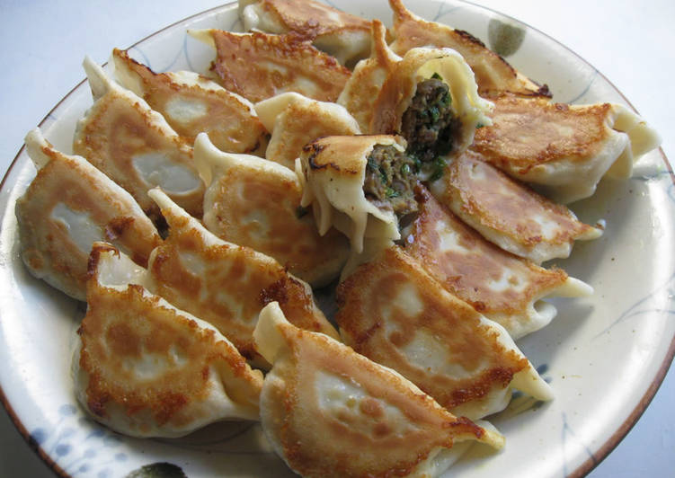 Easiest Way to Prepare Ultimate Beef & Garlic Chives Curry Gyoza