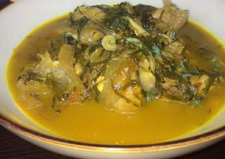 Recipe of Homemade Ukazi soup with periwinkle