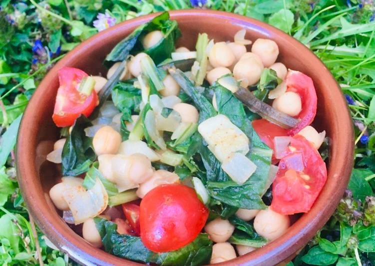Easiest Way to Cook Yummy Espinacas con Garbanzos (chickpeas and spinach tapas) 🌱