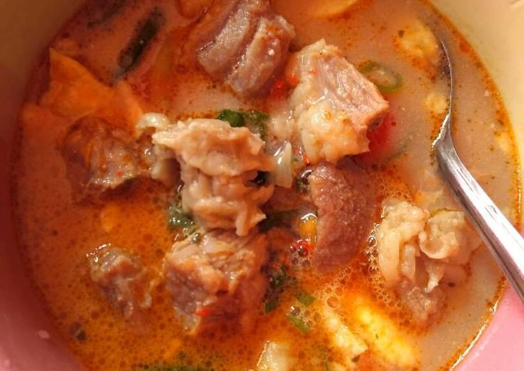Soto Betawi Daging (susu+santan)