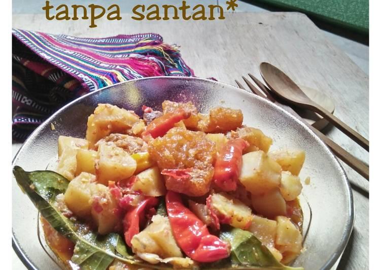 *sambal goreng krecek kentang tanpa santan*