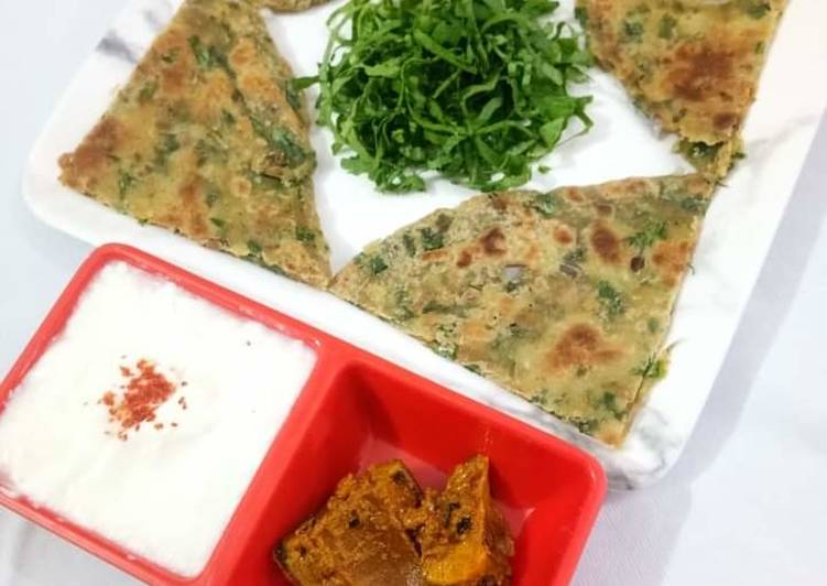 Easiest Way to Make Ultimate Spinach Paratha