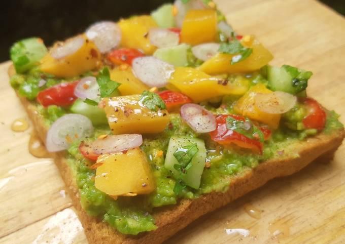Mango Guacamole Toast
