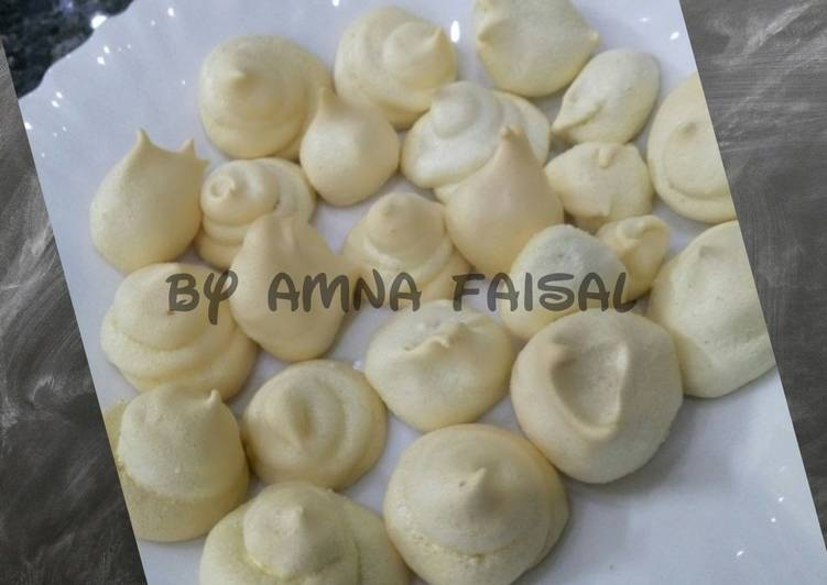 Mini Egg White Biscuits Recipe By Amna Faisal Cookpad